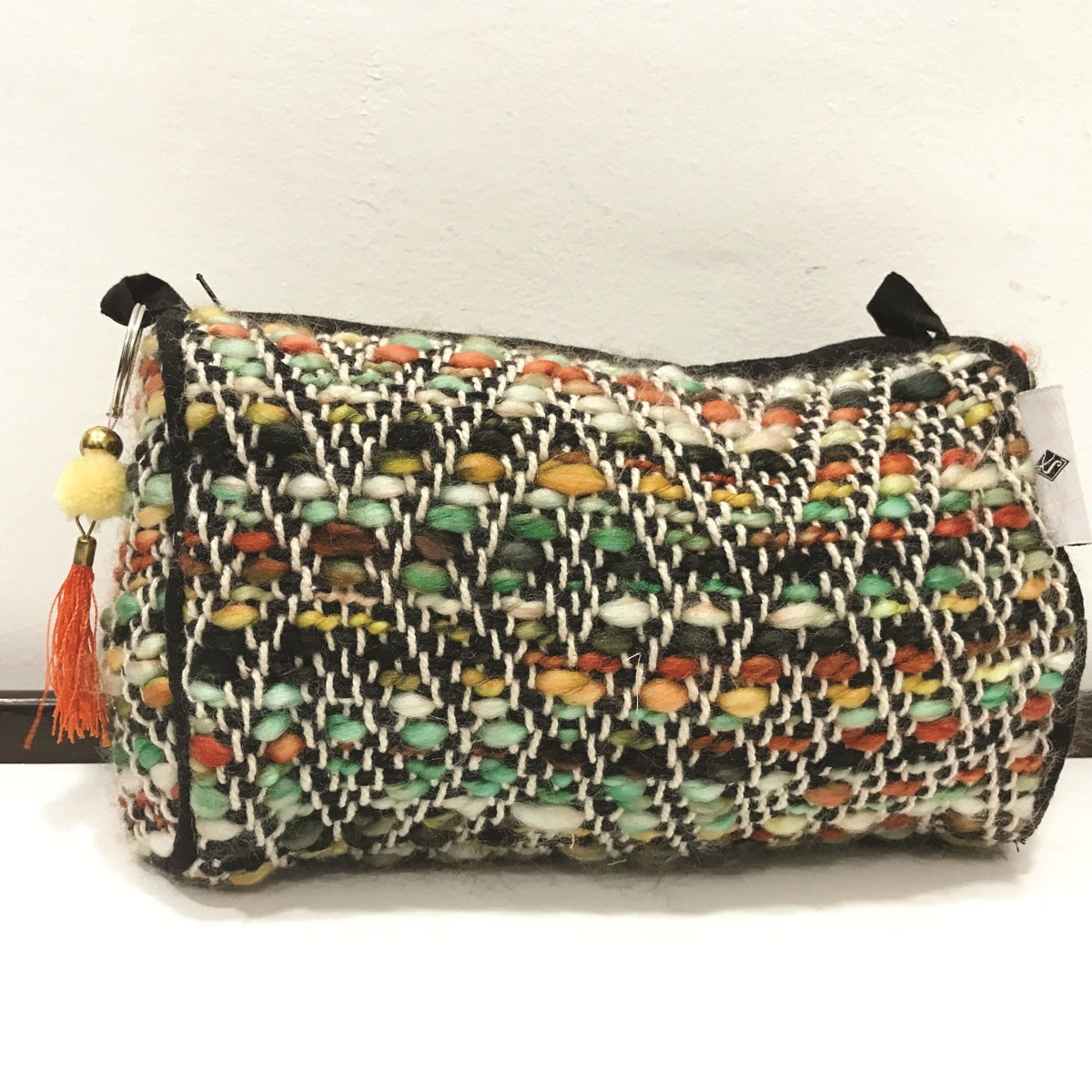 Multi Color Handwoven Make Up Case Handmade Jewellery Pouch Travel Bag